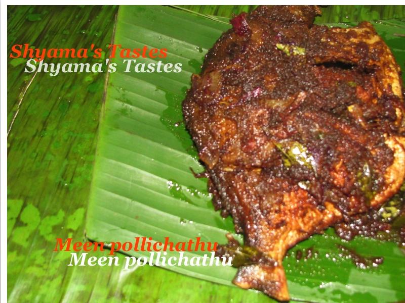 Shyama S Tastes Meen Pollichathu Fish Fried In Banana Leaf