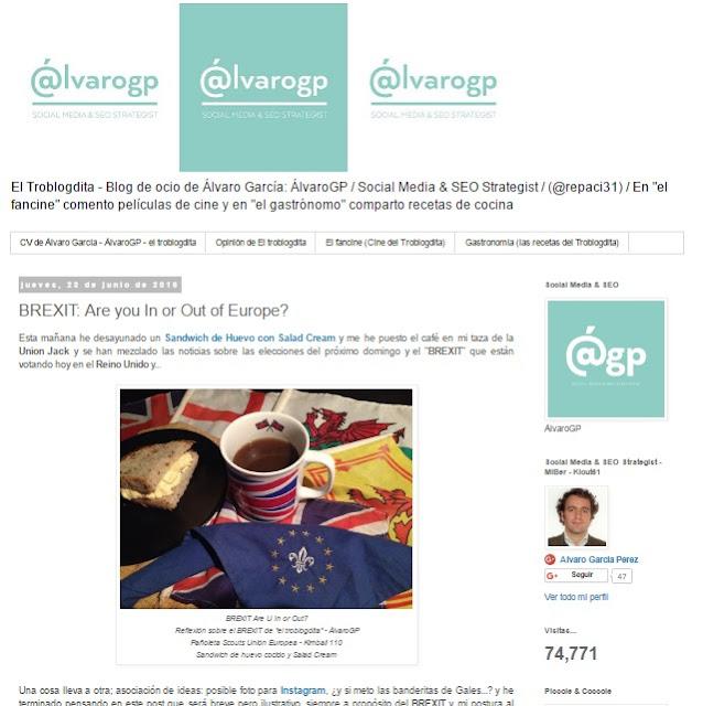 Lo + leído en el troblogdita - junio 2016 - ÁlvaroGP - Pelis para verano - Chile Campeón - La Roja - Chocolate Valor - El Pescador Montecarmelo - El Señor de los Anillos - Yakitoro - Chicote - BREXIT - MIB -  MIBers - Redes Sociales