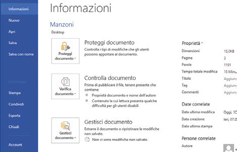 Come esportare documenti Word in PDF