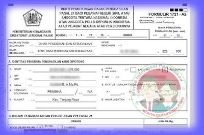 Aplikasi Bukti Potong Formulir 1721 A2 Untuk Guru Format Excel