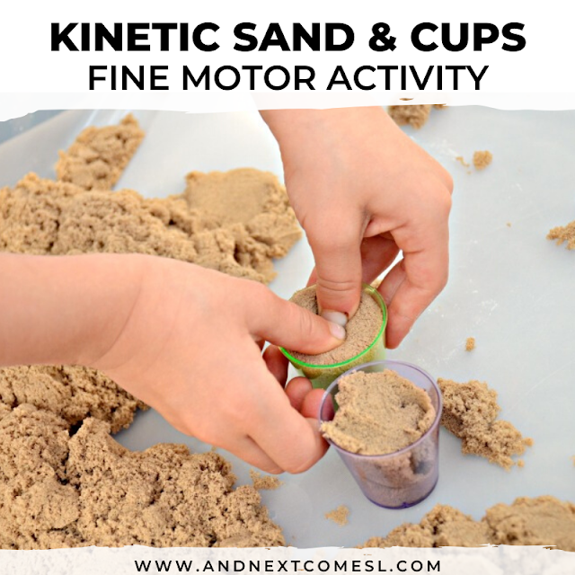 Kinetic sand activity for toddlers and preschoolers