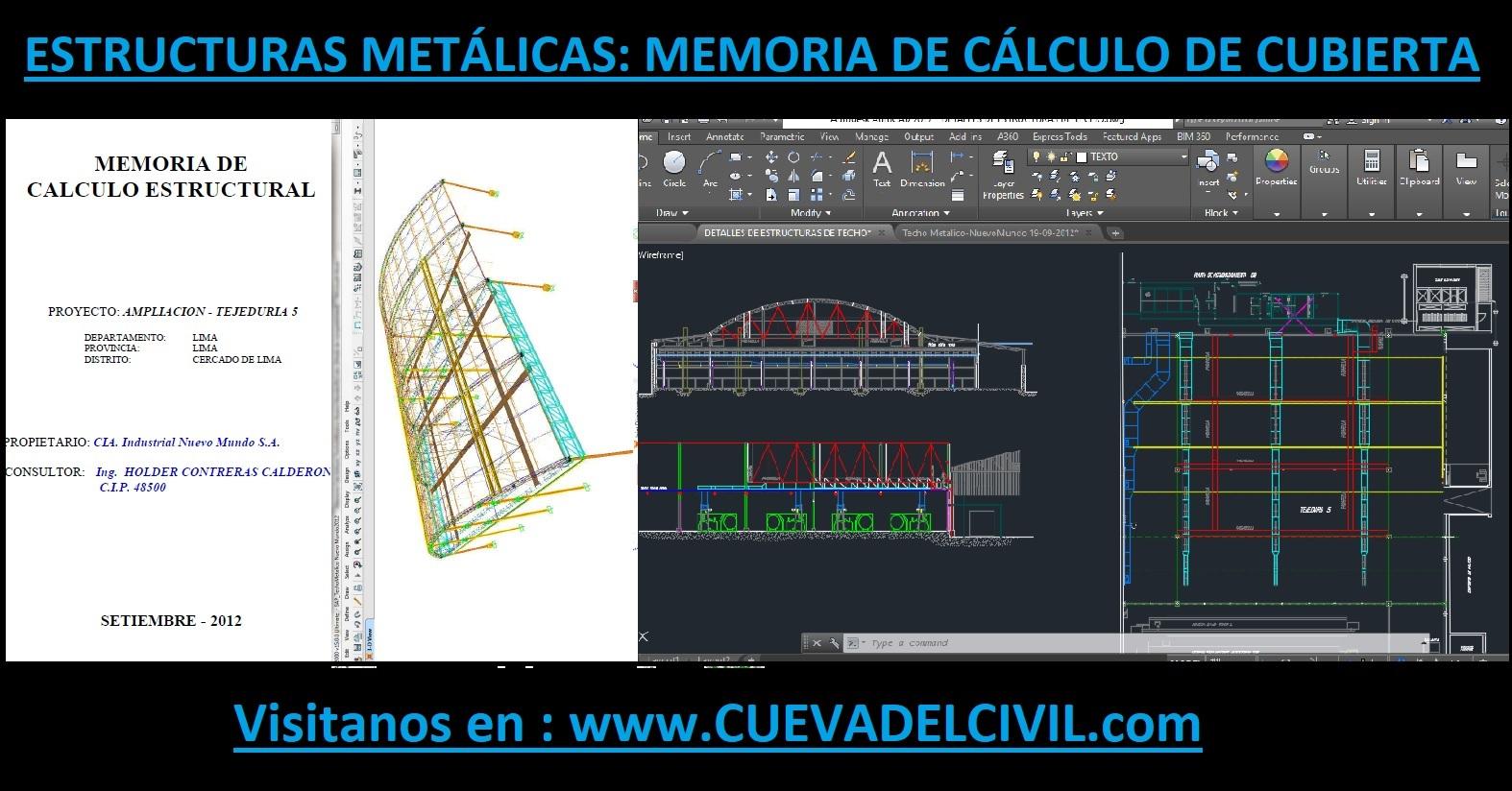 Estructuras Metálicas: Memoria de Cálculo de Cubierta (Ampliación)