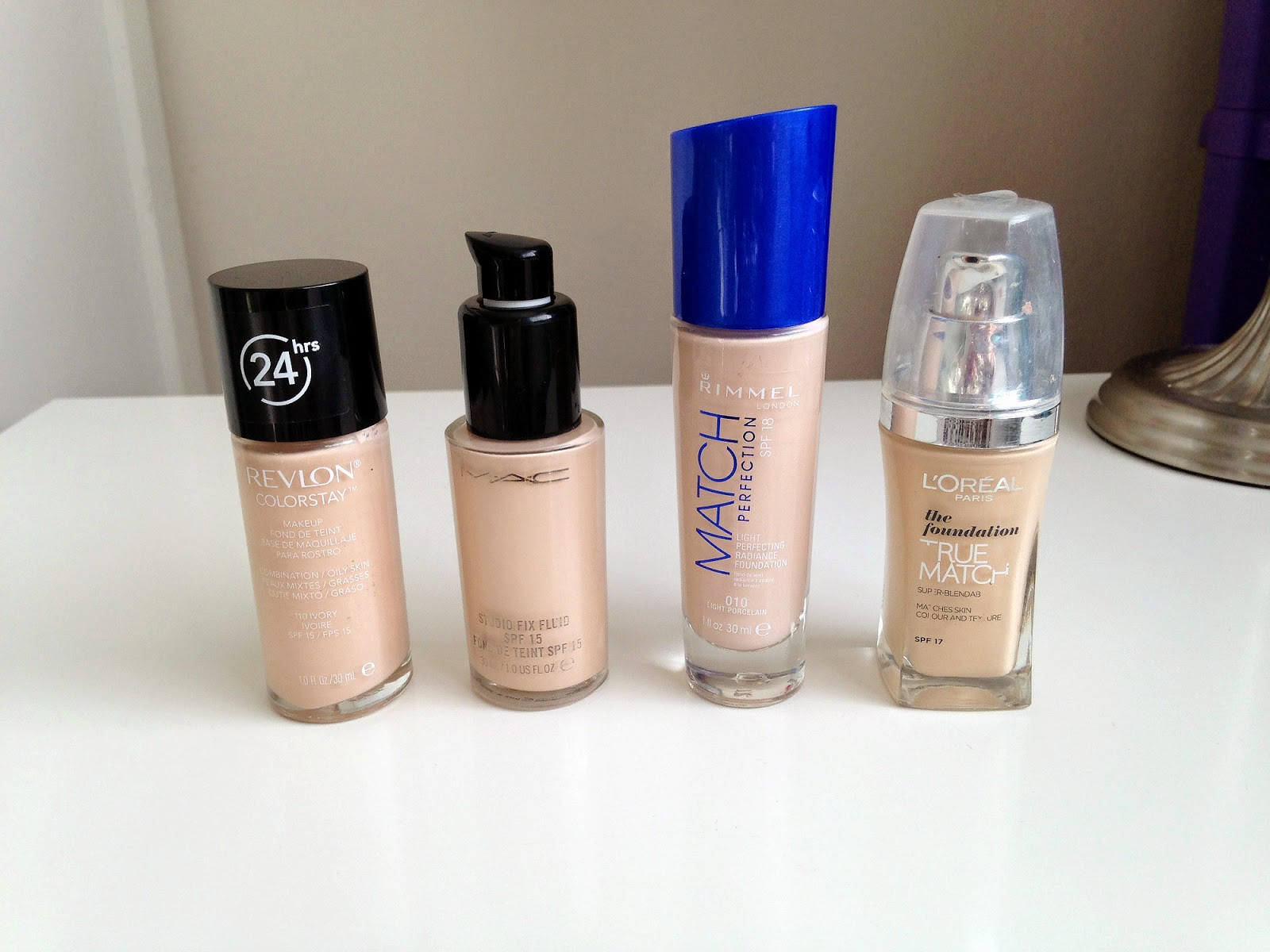 My Current Top 4 Favourite Foundations