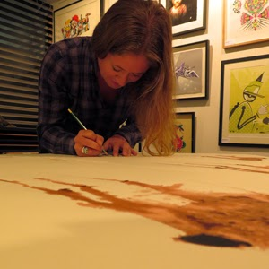 Nicole Tattersall signing 'Deer of the run' at Dangerfork