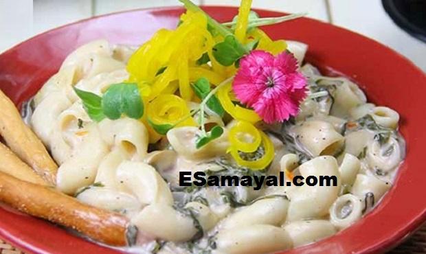 பசலைக்கீரை காளான் பாஸ்தா செய்வது | Trigonella Mushroom Pasta Recipe !