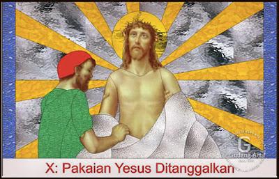Kaca Patri Gambar Yesus