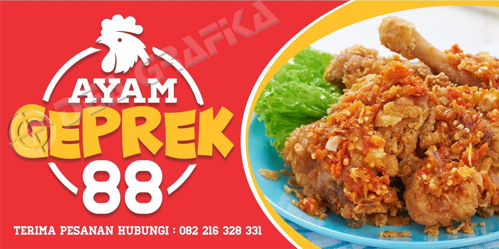 Spanduk Ayam Geprek 88 - PERCETAKAN DEA GRAFIKA SUBANG