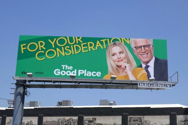 Good Place season 3 Emmy FYC billboard