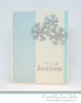 'Tis the Season card-designed by Lori Tecler/Inking Aloud-stamps and dies from Reverse Confetti