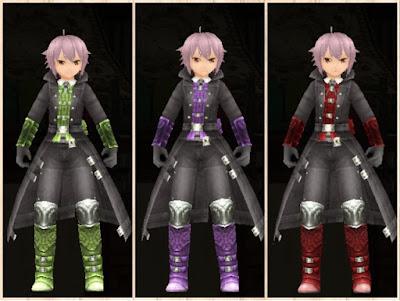 キリングコート 黄緑2・紫2・茶2