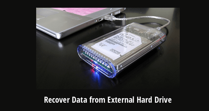 How to Recover Data from External Hard Drive?