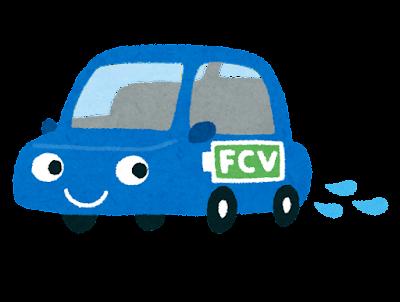 排水する燃料電池自動車のイラスト