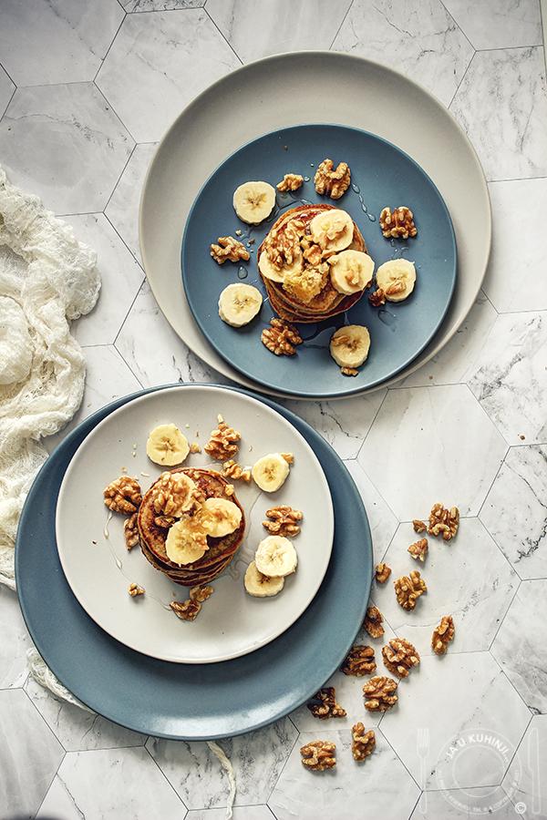 Američke palačinke sa bananom i ovsenim pahuljicama