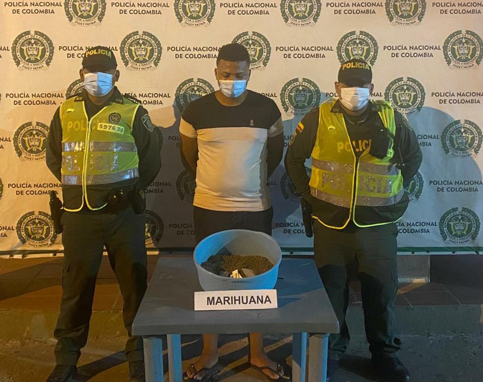 hoyennoticia.com, Pillado jíbaro en Maicao con 400 gramos de marihuana