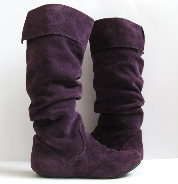 Steve Madden Tall Purple Suede Boots Womens Size 6