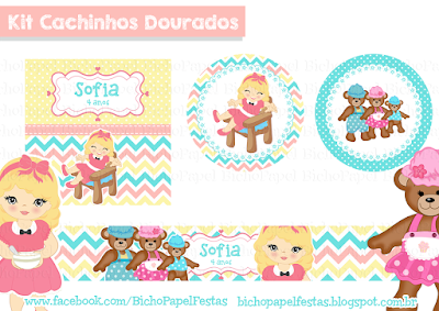 Kit Festa Cachinhos Dourados candy colors