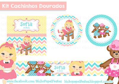 Kit Festa Cachinhos Dourados candy colors