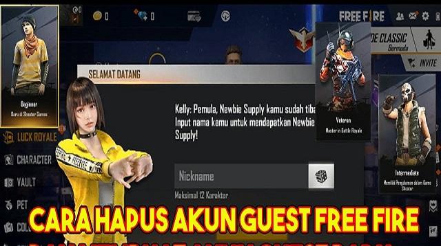 Cara Hapus Akun Guest Free Fire