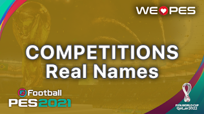 Real Names | Competitions | PES 2021