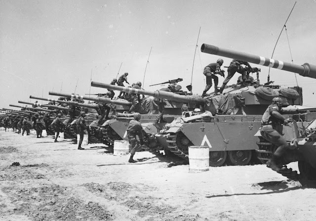 Image Attribute: The file photo of Israeli battle tanks in Arab-Israeli Six Day War 1967 / Wikimedia Commons
