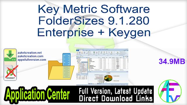 Key Metric Software FolderSizes 9.1.280 Enterprise + Keygen