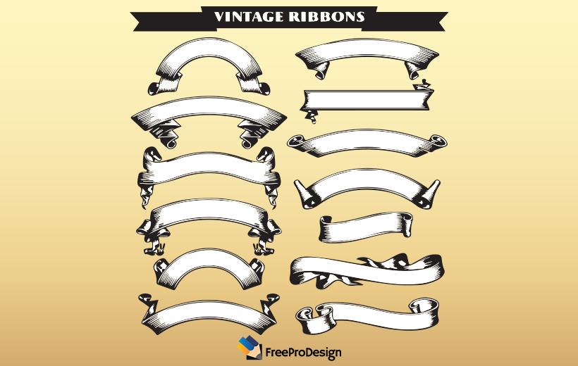 Vintage ribbons set, ribbon