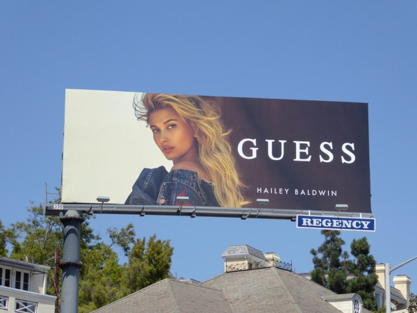 Guess Hailey Baldwin Fall 2016 billboard