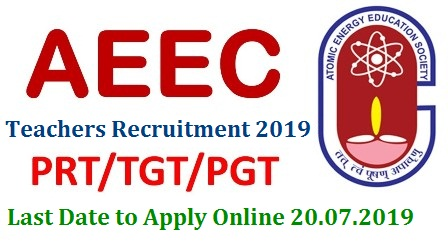 Atomic Energy Educational Society AEES Released Recruitment Notification 2019 to fill up PGT TGT PET Vacancies in AEES India. Post Graduate Teachers Trained Graduate Teachers Primary Education Teachers vacancies in Atomic Energy Educational Society Recruitment Notification 2019 Released by the Atomic Energy Govt of India. aees-pgt-tgt-pet-recruitment-2019-apply-online