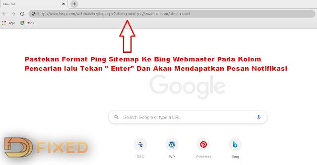 Cara Ping Sitemap Ke Bing