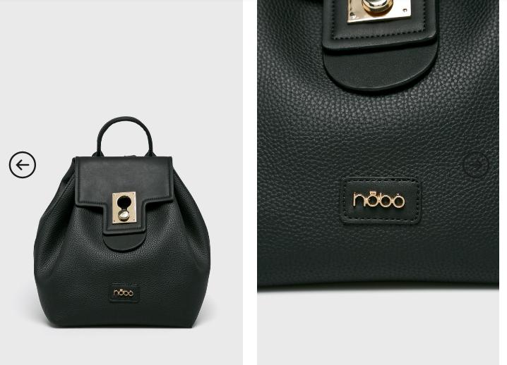 Rucsac negru cu insertii aurii de firma ieftin moderna 2019 - Nobo