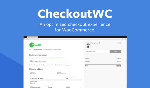 CheckoutWC v4.3.4 - Optimized Checkout Page for WooCommerce