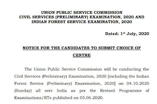 important notice civil services preliminary examination 2020