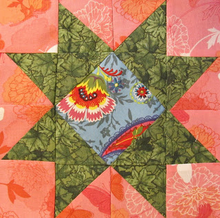 free quilt block pattern of a star