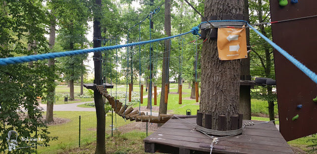 Niesamowite przeszkody park linowy solpark