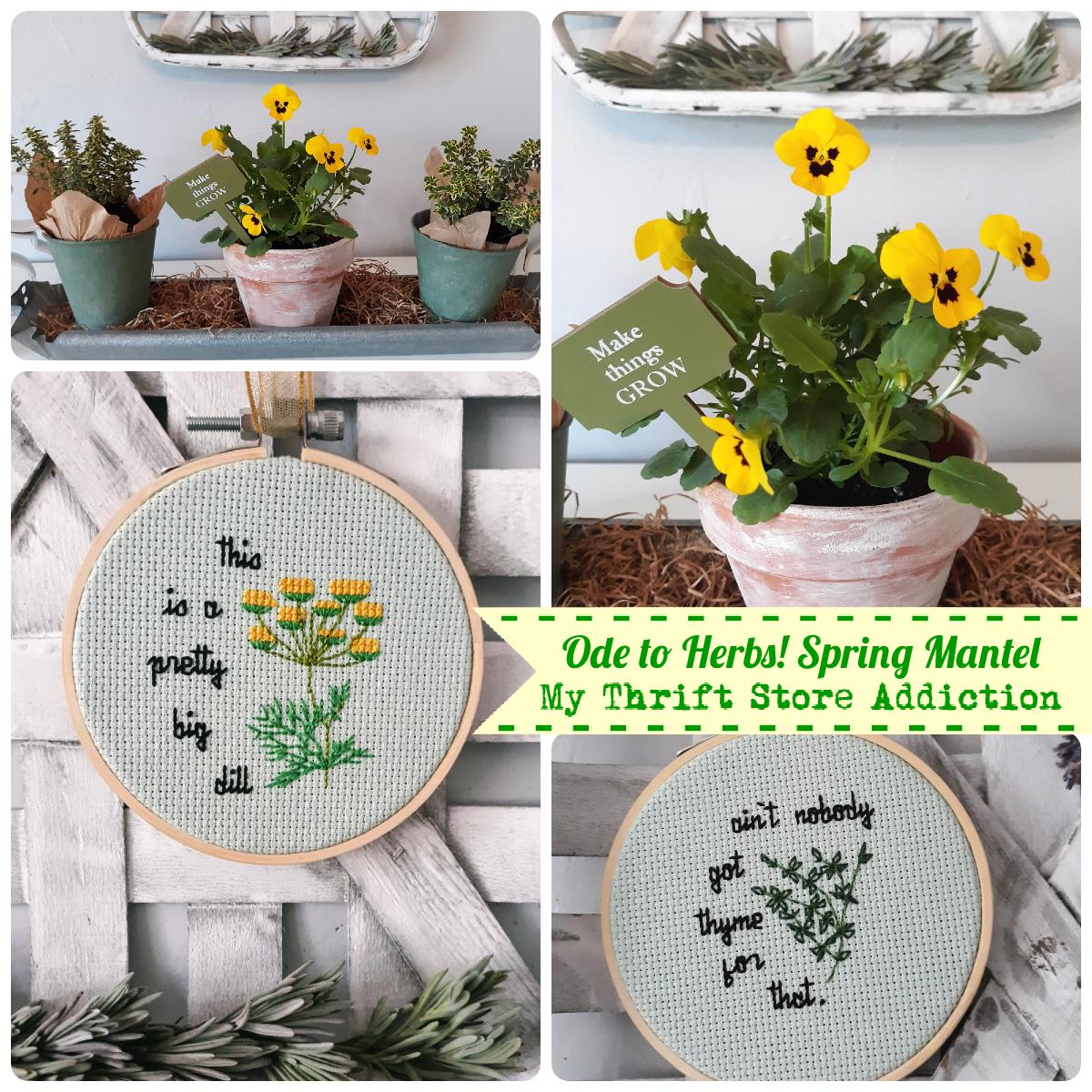 herbs spring mantel