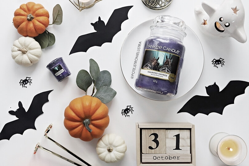 świeca yankee candle haunted hayride halloween 2019 blog