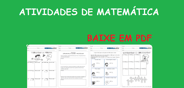 BAIXE EM PDF - Atividades de matemática 4° ano divisão