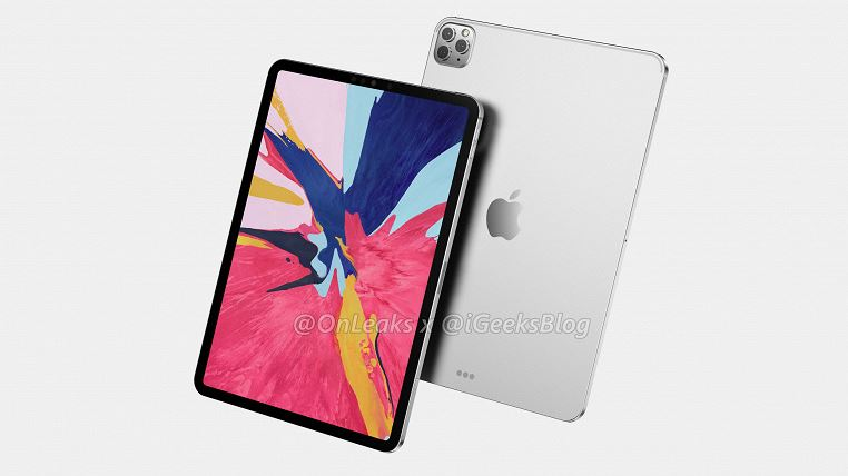 iPad Pro 2020 poses on renders that are as close as possible to reality