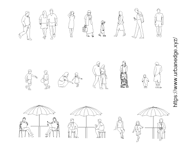 Family activities free cad blocks download (Human Figures) - 20+ Dwg Models