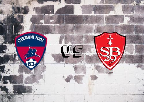 Clermont Foot vs Brest  Resumen