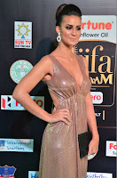 Lerisa Bonisa in a Sleeveless Deep neck Golden Gown ~  Exclusive 003.JPG