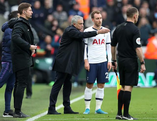 Eriksen Performance For Me Is Very Poor - Mourinho Blast Spurs Amid Inter Rumors