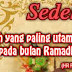 Keutamaan Sedekah di Bulan Ramadhan