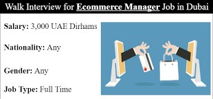 E-commerce Marketplace Manager Job Vacancy in Retailing Industry Dubai