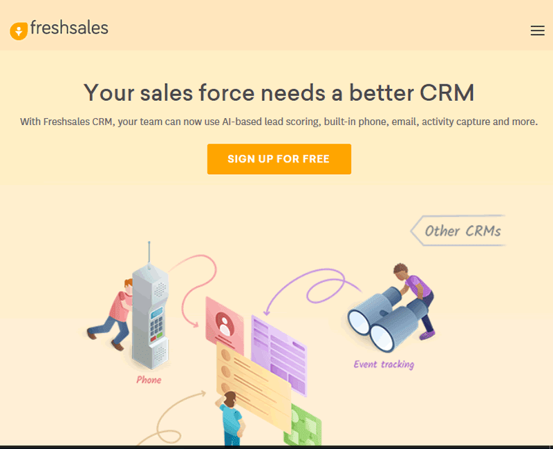 Easily track the progress of your deals with Freshsales