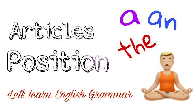 Articles Position