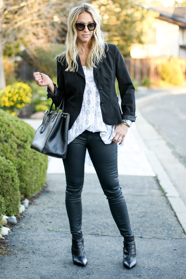 how to wear white and black fashion
