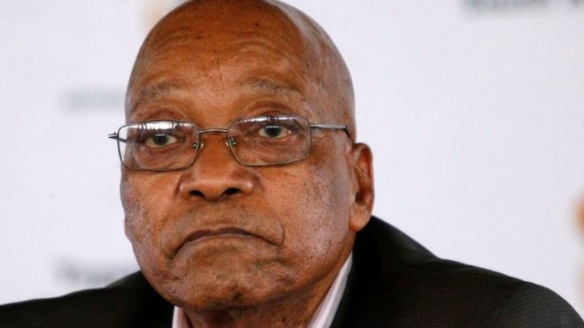 South Africa's Jacob Zuma abandons rally after being booed