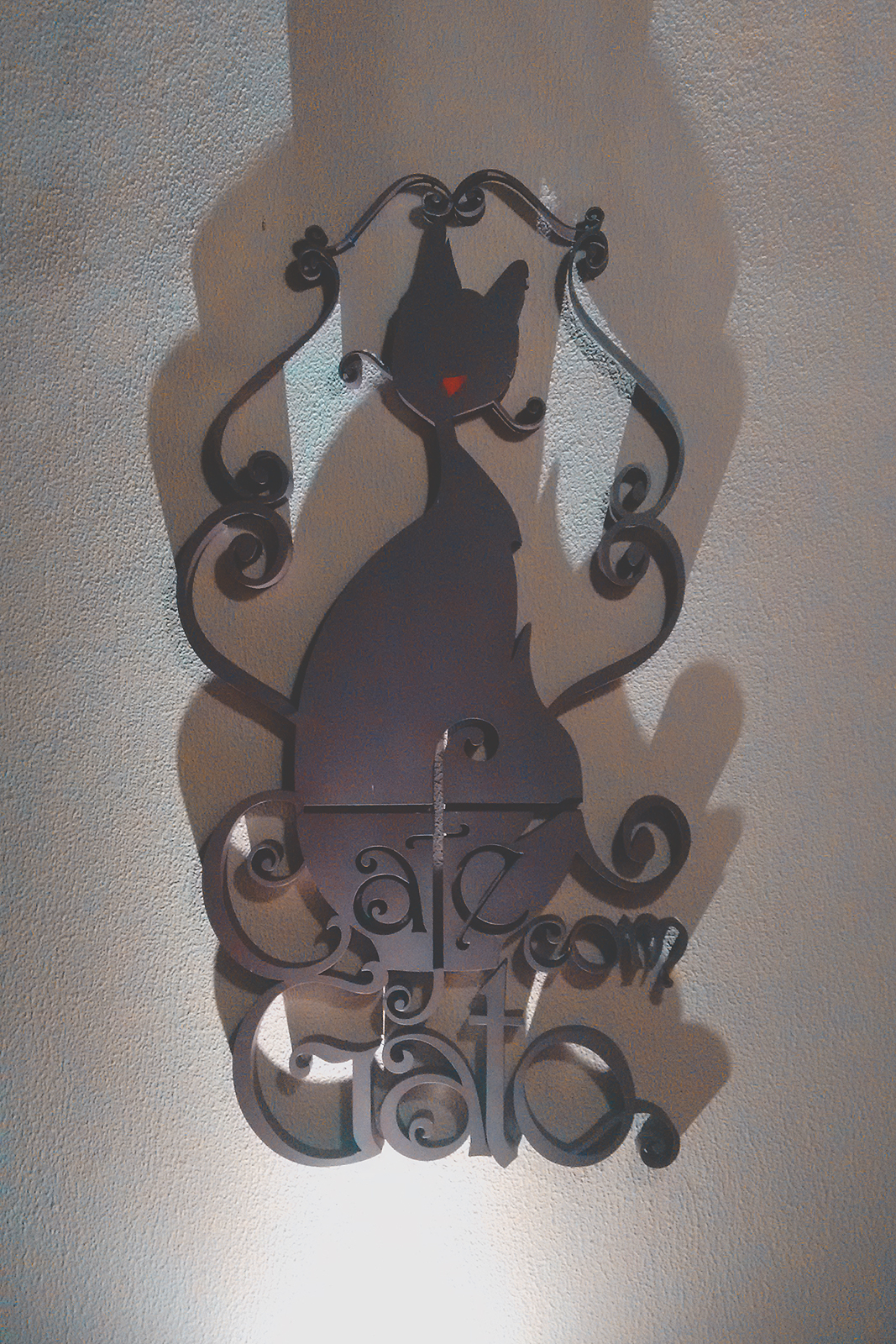 decoração café com gato