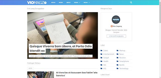 Cara Mengubah Widget Featured Post di Template Viomagz
